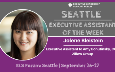 Executive Assistant of the Week: Jolene Bleistein