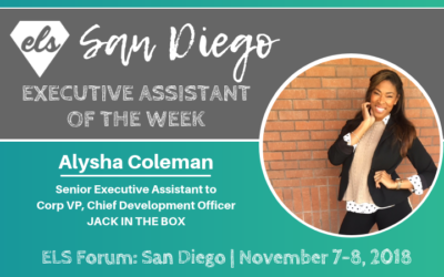 Executive Assistant of the Week: Alysha Coleman