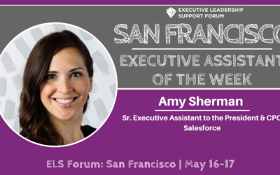 Executive Assistant of the Week: Amy Sherman