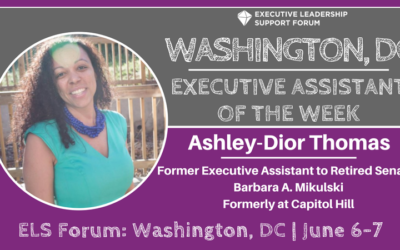 Executive Assistant of the Week: Ashley-Dior Thomas