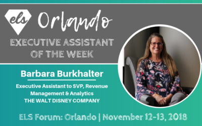 Executive Assistant of the Week: Barbara Burkhalter