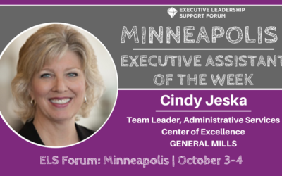 Executive Assistant of the Week: Cindy Jeska