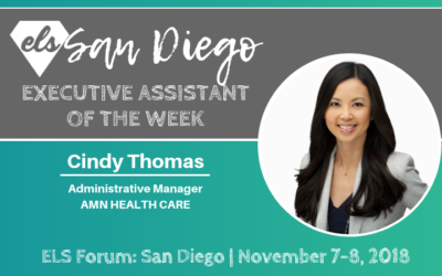 Executive Assistant of the Week: Cindy Thomas
