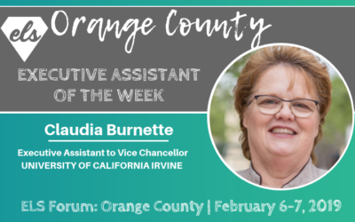 Executive Assistant of the Week: Claudia Burnette