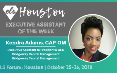 Executive Assistant of the Week: Kendra Adams