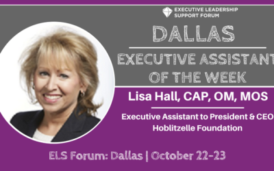 Executive Assistant of the Week: Lisa Hall