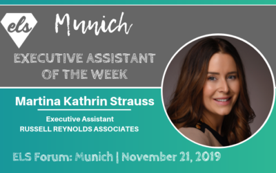 Executive Assistant of the week: Martina Kathrin Strauss