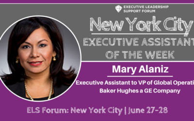 Executive Assistant of the Week: New York City: Mary Alaniz